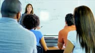 Female Tutor Multi Ethnic Adult Students Stock Footage