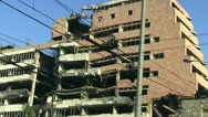 Destroyed Ministry of Defence in Belgrade Stock Footage