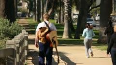 Walkers In Palisades Park HD Stock Footage