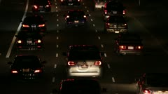 Motorcycle Lane Splitting In Traffic At Night HD Stock Footage