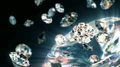 slowly falling diamonds, beautiful background - stock footage
