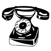 Old analogue phone Stock Illustration