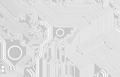 printed circuit - stock illustration