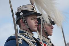 danish royal guard - stock photo