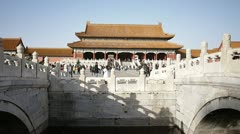 Imperial palace in Bejing China Stock Footage