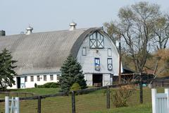 white barn - stock photo