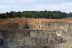 rock quarry - stock photo