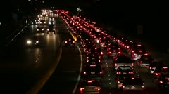 Traffic Tail Lights Southern California HD Stock Footage