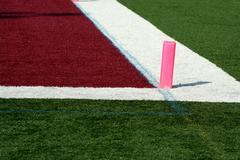 football end zone - stock photo