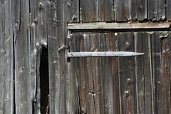 old barn door - stock photo