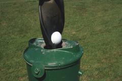 golf ball washer - stock photo