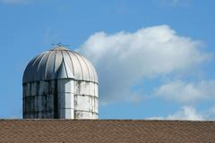 grain silo - stock photo
