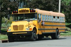 Yellow schoolbus Stock Photos
