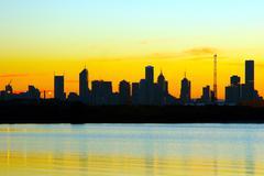 city silhouette - stock photo