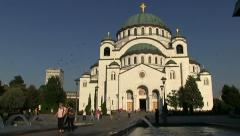 Saint Sava Temple Stock Footage