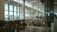 Stock Video Footage of Kinetic art display at the Changi airport in Singapore