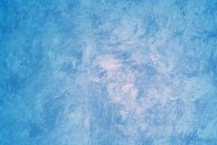 blue faux painted wall - stock photo