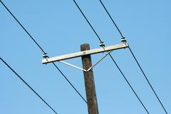 telephone pole - stock photo