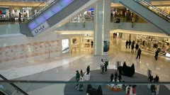 Multi level shopping center in Hong Kong - stock footage