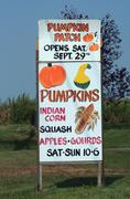 Farm pumkin patch sign Stock Photos