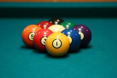 Nine ball rack Stock Photos