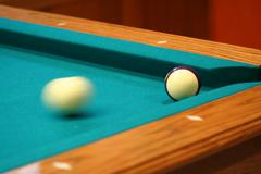 cue ball in motion - stock photo