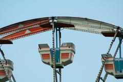 Ferris wheel cars Stock Photos
