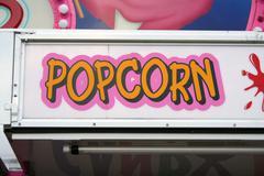 popcorn sign - stock photo