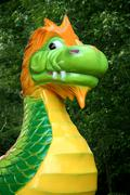 Carnival ride dragon Stock Photos