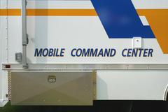 mobile command center - stock photo