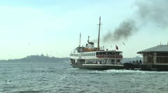 Besiktas Ferry Port#1 Stock Footage