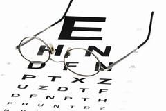 Eye chart with glasses Stock Photos
