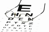 Stock Photo of eye chart with glasses