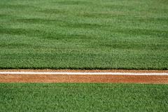 Baseline on a baseball field Stock Photos