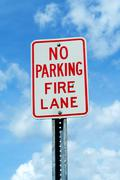 Stock Photo of no parking fire lane sign