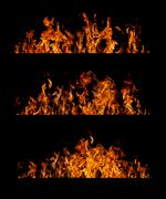 flame collection - stock illustration