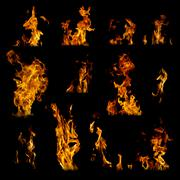 Assorted flames Stock Illustration