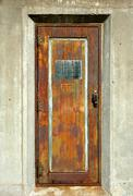 Stock Photo of old rusty metal door