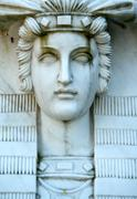statue face - stock photo