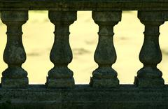 fence columns - stock photo
