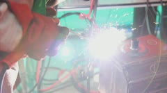 Welding - stock footage