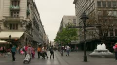 Serbia, Belgrade downtown Stock Footage