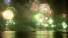 Firework show at the Bosphorus Stock Footage