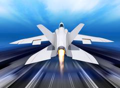 Fighter-interceptor aircraft Stock Illustration