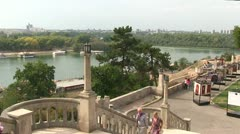 Serbia, Belgrade Fortress, Sava and Danube rivers Stock Footage