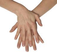 two feminine hands - stock photo