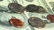 4K. Dollars And Cents. Stock Footage