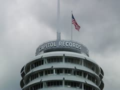 Capitol Records Building in Hollywood, CA time lapsed_2 Stock Footage