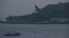 Stock Video Footage of Istanbul, passenger ferries at dusk