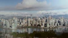 Downtown Vancouver. Timelapse. - stock footage